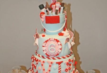 Birthday cake displays